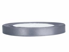 0,6 cm-s szatén szalag (25 m) ezüst (091)