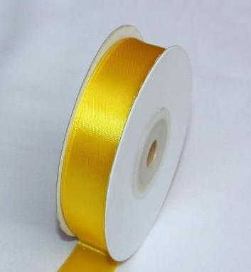 Szatén szalag citromsárga (HS-038)-(0,6 cm * 22 m)