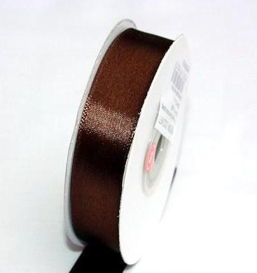 Szatén szalag csokibarna (HS-044)-(0,6 cm * 22 m)