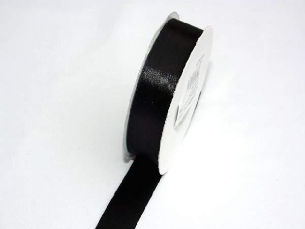 Szatén szalag fekete-(HS-045)-(0,6 cm * 22 m)