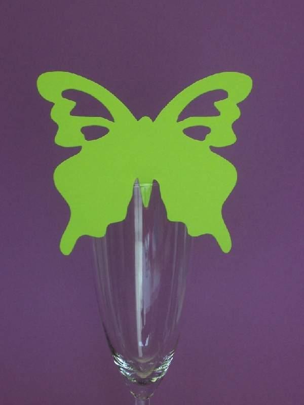 pillangó ültetőkártya limezöld (10 db)