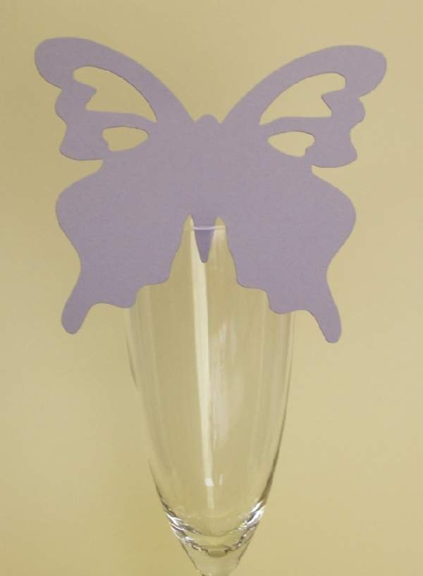 pillangó ültetőkártya világoslila (10 db)
