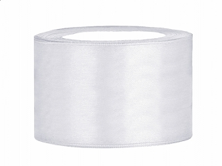 3,8 cm fehér szatén szalag (25 m)