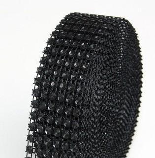 strassz dekorszalag 3 cm *4,5 m - fekete (045)