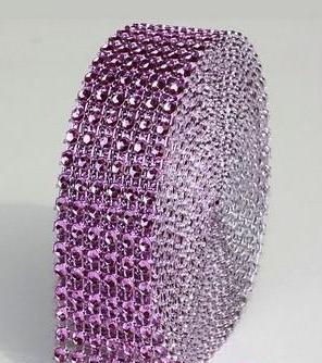 strassz dekorszalag 3 cm *4,5 m - világoslila (110)