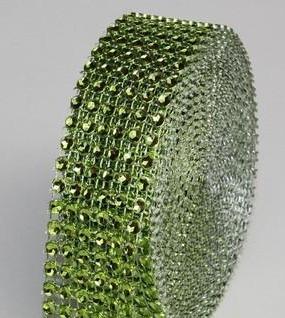 strassz dekorszalag 3 cm *4,5 m - zöld (048)