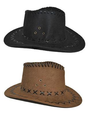 gyerek velúr cowboy kalap  fekete vagy piros  (50515)