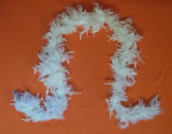 dekor tollboa fehér (A-008) 180 cm hosszú