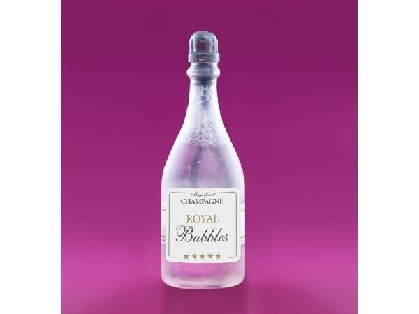 buborékfújó, pezsgősüveg formájú
