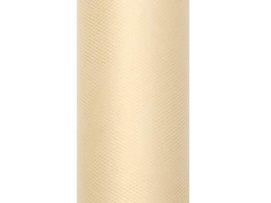 krém tüll dekoranyag (079)- 50 cm*9 m, puha