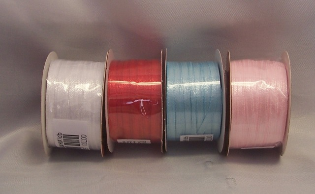 0,3 cm szatén szalag világoskék ( 50 m)