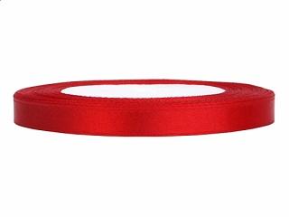 0,6 cm-s szatén szalag (25 m) piros