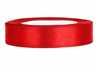 1,2 cm-s szatén szalag (25 m) piros