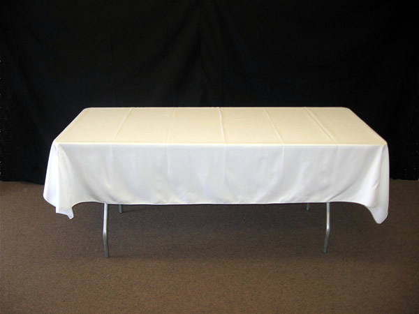 Fehér textil asztalterítő (1,5 m x 4 m)-szegetlen