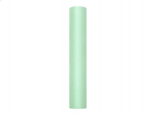 mentazöld tüll dekoranyag(103)- 50 cm*9 m,puha