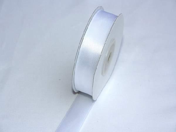 5 cm szatén szalag fehér (25 m)