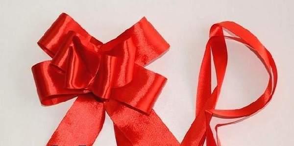 szatén gyorsmasni óriás (5 cm * 90 cm), piros