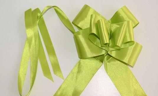 szatén gyorsmasni óriás (5 cm * 90 cm), zöld