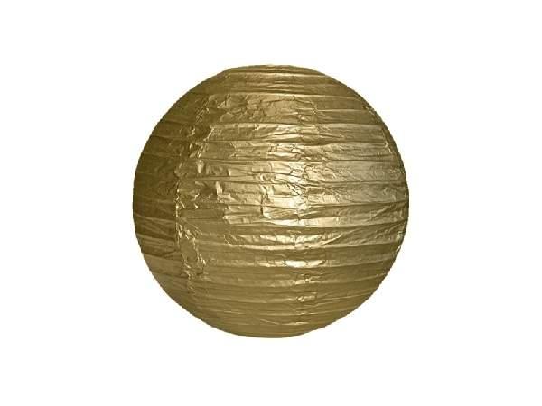 arany papír lampion gömb 25 cm-es