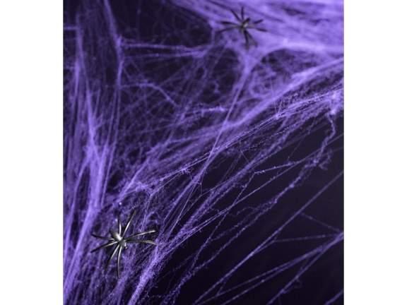 pókháló műanyag pókkal 60 gr-s lila