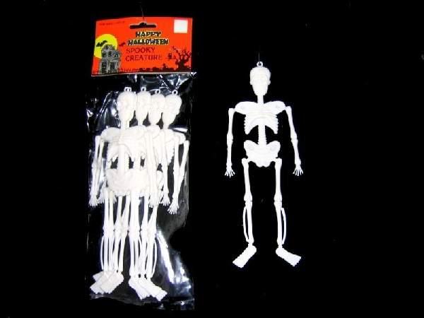műanyag csontváz 20 cm (6 db) fehér