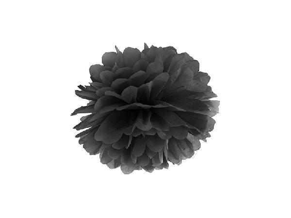 papír gömb / pom-pom (25 cm átmérő ) fekete