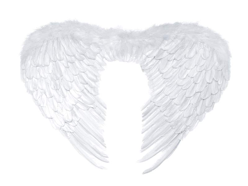 fehér, toll angyalszárny 80x55 cm (SK6)