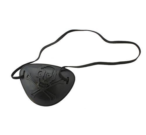 kalóz szemtakaró halálfejjel (műanyag) -F905