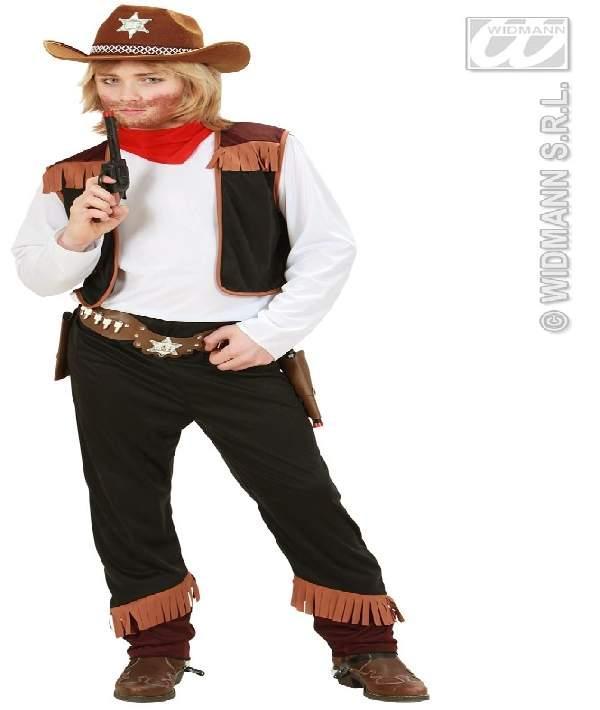 Cowboy gyerek farsangi jelmez (140 méret)