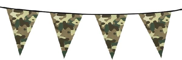 kommandós zászlógirland, 6 m (44300)