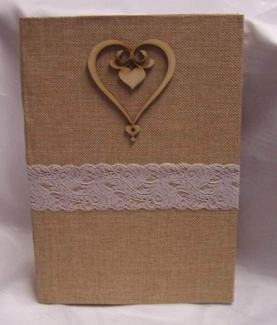 vintage esküvői vendégköny A/4, sima,90 lapos