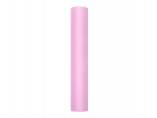 rózsaszín tüll dekoranyag (081)- 15 cm*9 m, puha