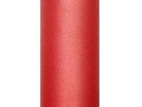piros tüll dekoranyag (007)- 30 cm*9 m, puha