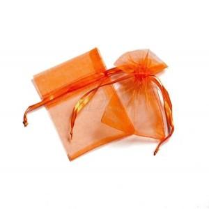 8x10 cm organza tasak narancs (10 db)