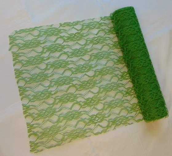 zöld csipke dekoranyag (29 cm * 5 m) - 048
