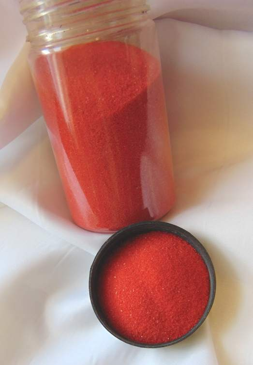 Dekorhomok piros (400 gr)- finomszemű