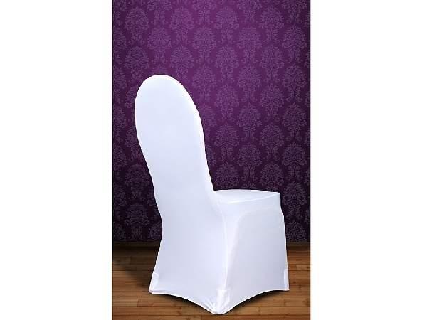 Elasztikus, spandex székszoknya ,székhuzat, fehér