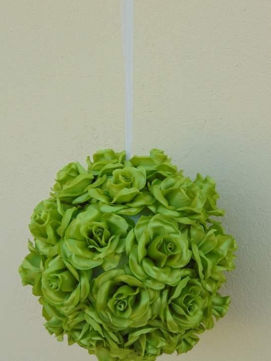 rózsagömb óriás szatén zöld (35 cm)
