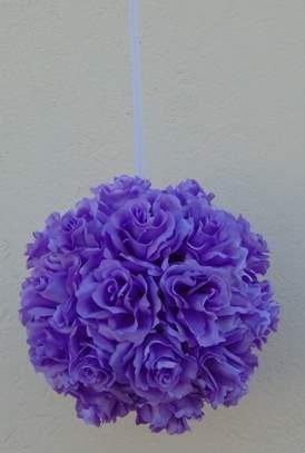 rózsagömb szatén vlila (25 cm)