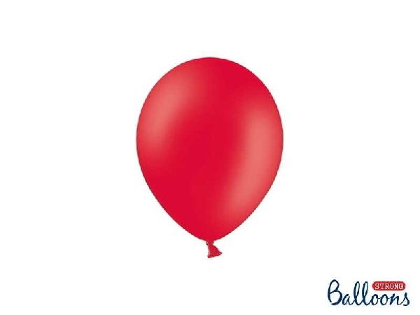 pasztel lufi 30 cm -007 piros