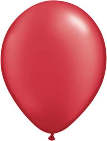 metál lufi 27 cm - 007j piros