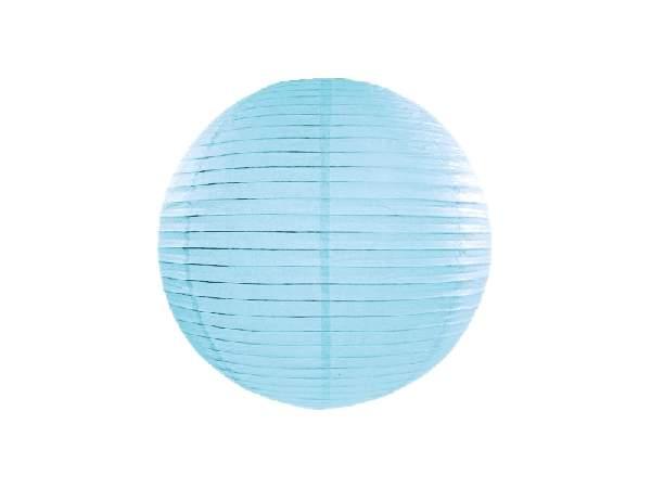 világoskék papír lampion gömb 35 cm-es-011