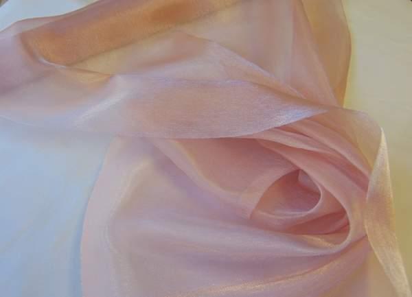 Szatén-organza (47 cm * 10 m) púder rózsaszín-693