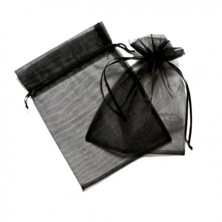18x24 cm organza tasak fekete