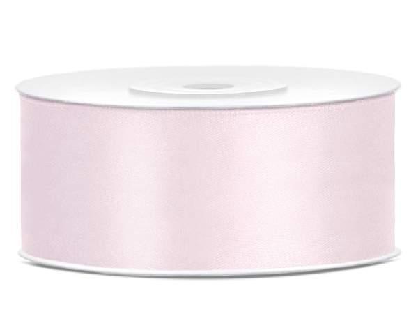 2,5 cm-s szatén szalag (25 m) púderrózsaszín-081pj