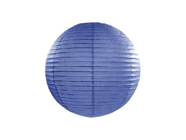 királykék papír lampion gömb 25 cm-es (074R)