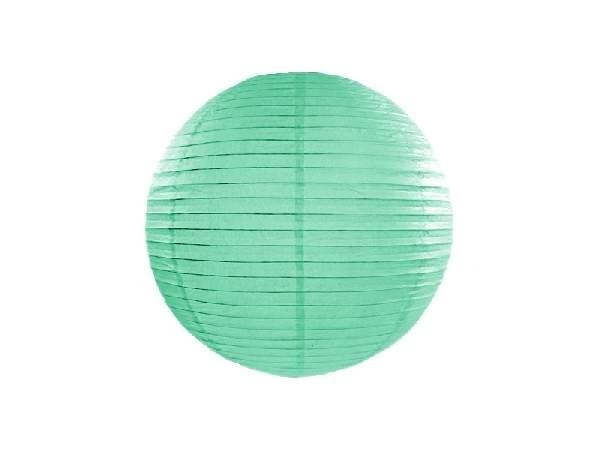 mentazöld papír lampion gömb 25 cm-es (103)