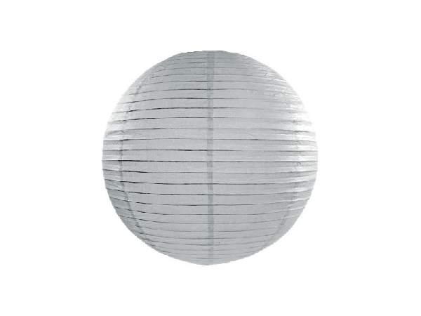 ezüstszürke papír lampion gömb 25 cm-es (091)