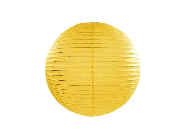 sárga papír lampion gömb 35 cm-es (084)