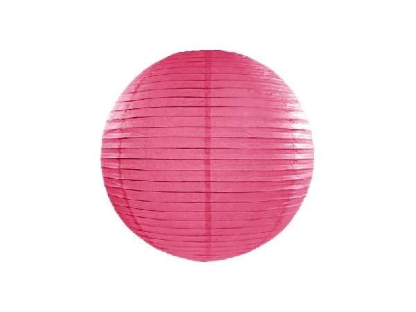 pink papír lampion gömb 35 cm-es (006)